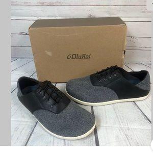 Olukai Nohea Moku Hulu Charcoal Gray Shoes 11.5